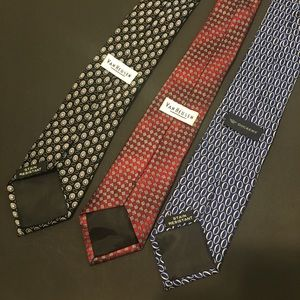 3 Neck Tie Bundle Dockers and Van Huesen Mens Ties